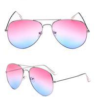 Wholesale Wholesale Rimless Sunglasses - Fashion Sunglass Men New Mirror Gradient Lens Sunglasses Pilot Women Brand Designer Sun Glasses 12pcs lot