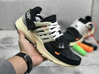 Wholesale High Quality Brand Sports Shoes - 2017 The ten Virgil Abloh X Air Presto Running Shoes for Women And Men High Quality Brand Designer Sport Sneakers Size 36-46