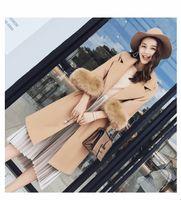 Wholesale Korean Winter Ladies Fashion Woolen - High Quality Autumn Winter Women's Wool Coat Solid Slim Pink Coat Korean Fashion Female Jackets Ladies Camel Woolen Coat