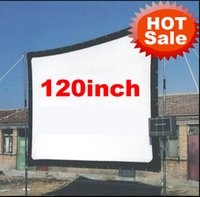 Wholesale atco projectors - Wholesale-Cheaper 120inch 16:9 Without frame can be fold Portable canvas fabric screen for HD led LCD UC30 UC40 UC80 ATCO Projector Beamer