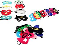 Wholesale Spiderman Masks For Kids Party - Superhero mask Cosplay Superman Batman Spiderman Hulk Thor IronMan Princess crown Halloween Christmas kids adult Party Costumes cloth Masks