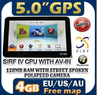 Wholesale 5 inch Car GPS navigation MB GB EU AU US Free MAP MP3 AV IN FM Radio TFT LCD Screen