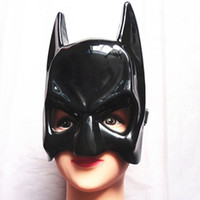Wholesale Batman Adult Costume Accessories - New Masquerade Party BATMAN MASK Cowl Adult Mens Full Overhead Dark Knight Rises Costume Accessory Free Shipping