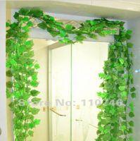 Wholesale Artificial Grape Ivy Plants - Beautiful Green Grape Leaves Vine 24 Piece Lot, Ivy Simulation Plastic Flower Artificial Plants For Wedding Home Decor