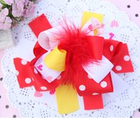 Discount boutique bows for girls - 15% off 2015 new 18colors Boutique 6inch big Bowknot hairpin Baby Bow Feather Hair Clip for girls best xmas gift drop shipping 15pcs