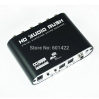 Digital Dolby DTS AC3 Optical a 5.1 Analog Audio Gear Decodificador de sonido SPDIF AC113 decode flash