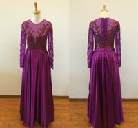 Wholesale Design Discounted Prom Dresses - Real Photo Fantastic Newly Designed A-line Scoop Satin Long Sleeves Beaded Discount Prom Dress Evening Gown 2016