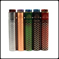 Wholesale red green drip tips resale online - Sebone Mod Kit Wide Bore Drip Tip Mechanical Kit with RDA Atomizer Thread Large Vent Holes E Cigarette Free DHL