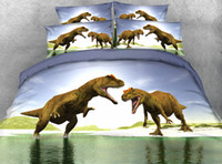 Großhandels-JF-043 Kinder Dinosaurier Bettwäsche Sets Twin volle Königin Super King Size 3D Doona Abdeckung Set T-Rex Bettbezug Bettwäsche Bettwäsche
