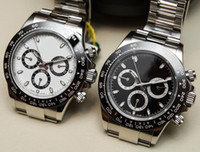 Wholesale Black Sapphire Bracelet - Luxury AAA Mens Watch Stainless Steel Bracelet 40mm 116500LN White Black WristWatches Automatic Mechanical Men Watches No chronograph