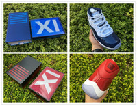 Wholesale Air Carbon - Top Quality OG Box Real Carbon Fiber Air Retro 11 Gym Red Chicago 378037-623 And Midnight Navy 378037-123 Size 7.5-13.5