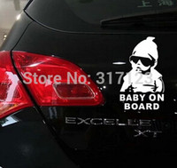 Wholesale Laptop Boards Wholesale - (50pieces lot) Baby on Board vinyl decal sticker funny truck car window laptop