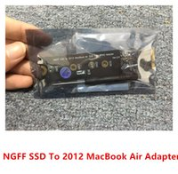 Wholesale Pci Firewire Usb - 100% High Quality New NGFF SSD To 2012 Macbook Air SSD(18+8Pin) Adapter Convertor With Screws and Screwdriver 10pcs lot free shipping