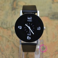 Wholesale Ladies Watches Big Numbers - 3 colors wholesale good quality new fashion black white big arabic number lady unisex man women wristwatch wrist watch hour