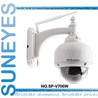 Wholesale Low Lux Dome Camera - SunEyes Wireless PTZ Dome IP Camera Outdoor HD with 2.8-12mm Optical Zoom Auto Focus 1 3 Sensor Low Lux IR Night Vision