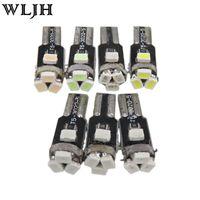 Wholesale Dashboard Wedge Lamp - Car Light Led T5 5 SMD 3020 Chips Light T5 73 74 2721 Wedge Speedometer Gauge Dashboard LED Instrument Panel Light Bulb