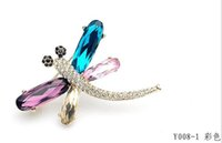 Wholesale Swarovski Rhinestone Silver Balls - gift for girlfriend! animal brooch crystal dragonfly brooch Made with SWAROVSKI ELEMENTS for Valentine's Day gift