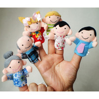 Wholesale Amazing Babies Doll - Wholesale-Amazing 6Pcs New Soft Cartoon Family Member Finger Puppet Baby Finger Doll Toys Nov 18