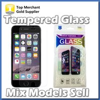 Wholesale Models Iphone - Mix Models Ultra Thin 0.26 mm 9H Glass Screen Protector For iPhone 7 6s Plus Galaxy S6 S7 Grand Prime G530 LG K7 LS770 stylus opp bags