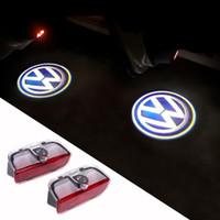 luces de logotipo de honda al por mayor-Luz de advertencia de puerta LED con proyector VW para VW Golf 5 6 7 Jetta MK5 MK6 MK7 CC Tiguan Passat B6 B7 Scirocco con arnés para $ 18no t