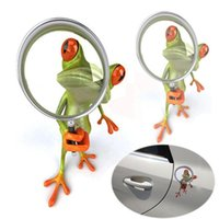 Nuova finestra 3D Adesivo decalcomania del vinile per Frog Divertente Sticker Decor Verde Emblem ordine tracciamento $ 18no