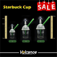 Wholesale Nail Cups - water pipe starbuck Cup glass bong 3 types dabber oil rig Dabuccino Evol glass bubbler bongs dome nail hookah Hookah water pipe