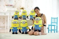 3pcs / set 25CM 3D film Despicable Me Minion Peluches 9.8Inch Jorge Stewart Dave Pour Wholesale Factory cadeau de Noël bébé Enfants