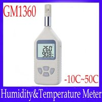 Wholesale Portable digital temperature meter GM1360 with data hold function MOQ