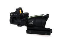 Wholesale Acog 4x32 Rmr - Trijicon TA31 ACOG Style 4X32 Tactical Scope Real Fiber Optic Green Illuminated w  RMR Micro Red Dot For Hunting Riflescopes