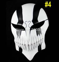 Wholesale Bleach Cosplay Hollow Masks - Wholesale-Resin Japanese cartoon Anime Ichigo Kurosaki Bleach Cosplay full Hollow Head mask adult prop Halloween Masquerade Party Costume