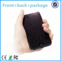 Wholesale Iphone5 Screen Guard Front Back - Wholesale-Retail package front and back diamond screen protective guard film full body the diamond for iphone5 5s 5c