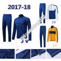 Wholesale Black Men Wearing Suits - Top thai quality 2017 2018 DYBALA soccer zipper jacket 17 18 HIGUAIN DANI ALVES MANDZUKIC jacket training suit tracksuit jackets wear