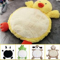 Wholesale plush bedroom carpets - Child Climb Pad cm Cute Dog Animals Plush Baby Play Mats Kids Gym Mat Children Developing Carpet Toy OOA3667