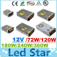Wholesale 12v 25a power supply - CE ROHS UL CSA SAA + 12V 6A 10A 15A 20A 25A 30A Led Transformer 70W 120W 180W 240W 300W 360W Power Supply For Led Modules Led Strips