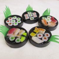 ingrosso fascino del telefono giapponese-Regalo libero di natale del pendente mobile della borsa del telefono del portachiavi di fascino del sushi del portachiavi giapponese delizioso misto della nave 20pcs