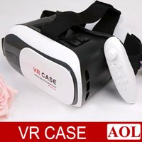 Wholesale Mobile Theater Glasses - VR-BOX VR case + remote bluetooth controller + Anti-blurry glass 3D virtual realuty glasses mobile home theater VR Glasses Google Cardboard