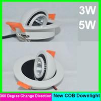 Wholesale Led 5pcs Bathroom - 5pcs lot 3W 5w 6w 10w cob Dimmable led downlight Warm Cool white Led Ceiling light lamp 85-265v 3 years warranty