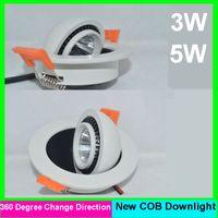 ingrosso 3w soffiato bianco soffitto-5pcs / lot 3W 5W 6W 10w pannocchia principale dimmable caldo da incasso / freddo bianco soffitto condotto la lampada chiara 85-265V 3 anni di garanzia