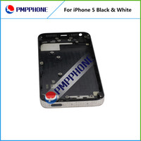 Wholesale Iphone Middle Housing Black - Feee DHL FEDEX Shipping Back Battery Cover Case with Middle Frame Assembly Full Housing Replacement White & Black Color For iphone 5 5G
