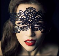 Wholesale Cat Lace Veil - Sexy Catwoman Black Bowknot bud silk mask Halloween Masquerade Fashion Lady Black Lace Mask Eye Mask Goggles Mask Veil Y30222