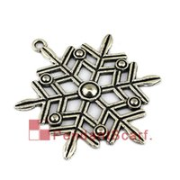 Wholesale Metal Accessories Jewellery Silver - New Design DIY Necklace Pendant Scarf Jewelry Metal Alloy Charm Snowflake Jewellery Scarf Pendant Accessories, Free Shipping, AC0420