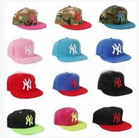 Wholesale Ny Snapback Adjustable - Special Price NY Letters Embroider Snapback Hats For Unisex Fashion Hiphop Outdoor Sprots Ball Caps Adjustable Festival Gift