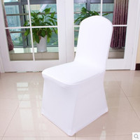 Wholesale Nylons Spandex Chair Covers - top selling! high quality cheap wedding white lycra spandex elastic chair cover, free shipping, great service