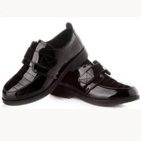 Wholesale Handsome Black Baby Boy - Wholesale-2015 big boy baby leather shoes handsome casual flat with shoes black white winter wedding party reception shoes