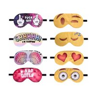 Wholesale cover girl eye - 3D Eyelashes Printed Emoji Face Sleeping Eye Mask Cover Travel Rest EyeShade Party Mask Girl Eyepatch Blindfolds Goggles mask