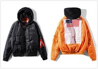 Wholesale Hoodies Men Double Sided - High-Quality Men Fashion Hoodies and Sweatshirts Simon Hip Hop Jacket Oversized MA-1 Bomber Giant Sleeve Double Sided Hooded Jacket Coat