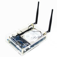 scatola trasparente acrilico BPI-R1 caso Banana Pi R1 Wholesale-trasparente. Custodia per BPI R1 Open-source Smart Wireless Router.FREE SPEDIZIONE