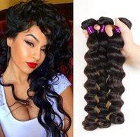 gevşek atkı saç uzantısı toptan satış-Cilt atkı saç 8A 100% Brezilyalı İnsan Saç Atkı Uzatma Gevşek Dalga Ücretsiz Boyalı Olabilir Yok Dökülme GS2102