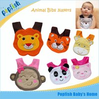 Wholesale Baby Bibs Free Shipping - Cotton Baby Bibs Waterproof Bibs Infant Baby Bibs Cartoon Animal Baby Burp Cloths 50 Country Free Shipping 10pcs