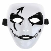 Wholesale Hip Hop Party Supplies Wholesale - Fashion Halloween Mardi Gras Mask White Hip Hop Street Dancing Full Face Venetian Mens Masked Ball Masks Festive Masquerade Party Supplies